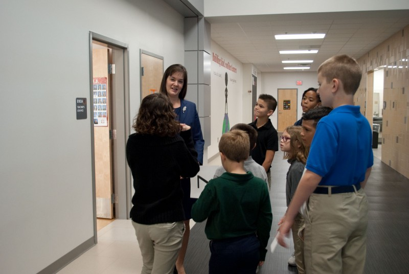 NIET CEO Dr. Candice McQueen Visits with Perry Township Students