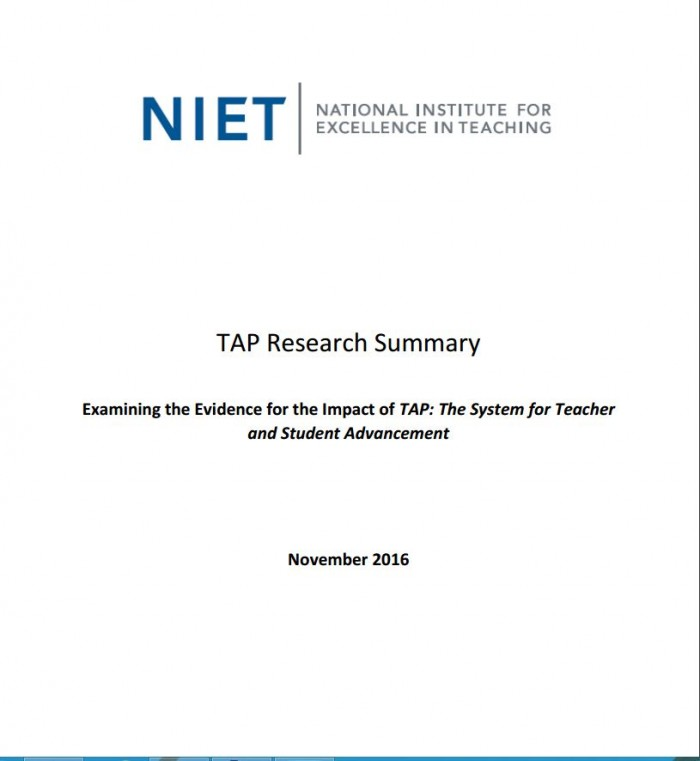 TAP Research Summary: November 2016