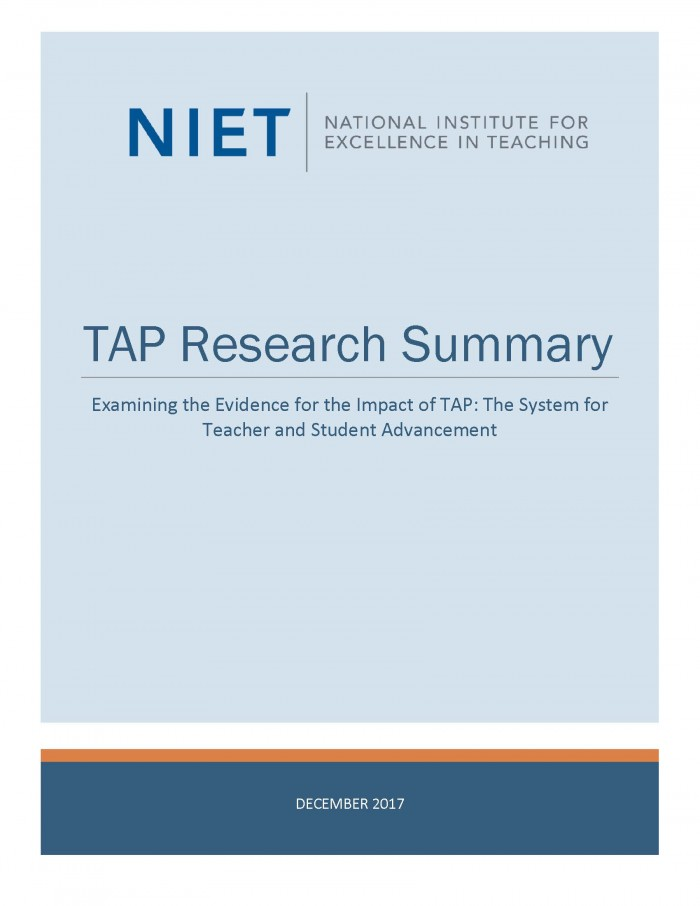 TAP Research Summary: December 2017