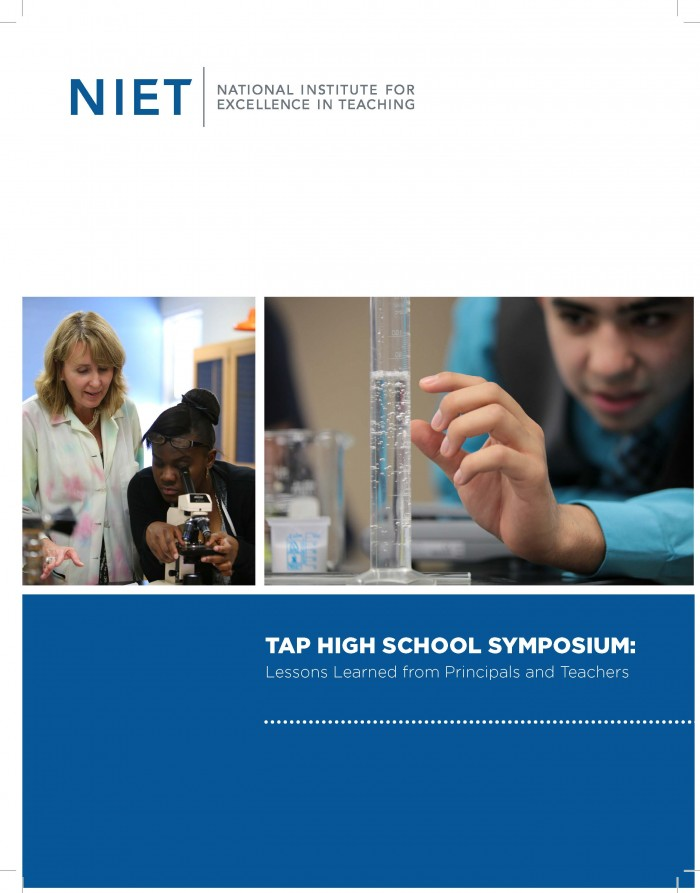 TAP High School Symposium: Lessons Learned from Principals and Teachers