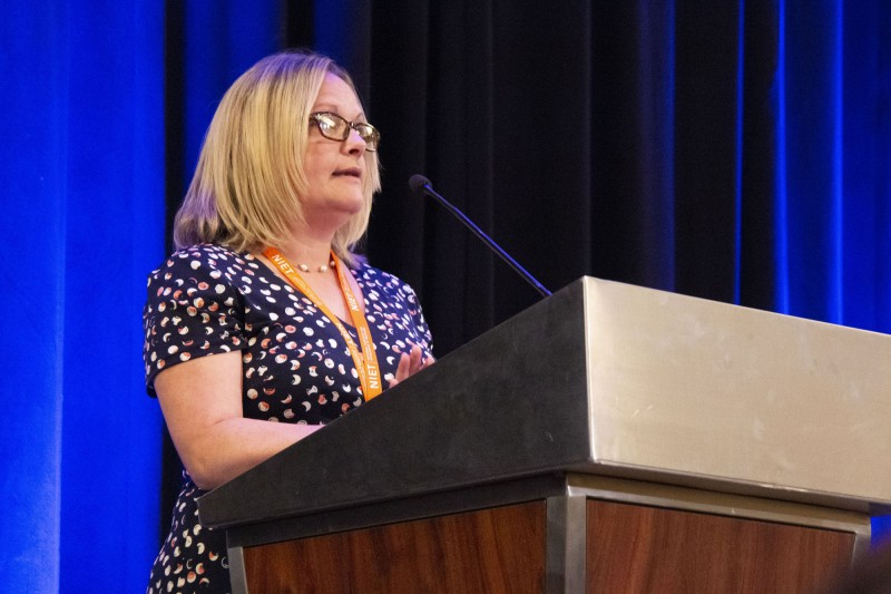 NIET Senior Program Specialist Jennifer Hazelwood addresses 2019 NIET Summer Institute