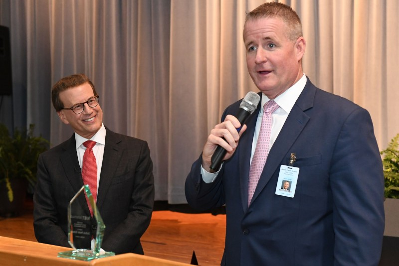 DeSoto Superintendent Clay Corley accepts NIET Award of Excellence for Educator Effectiveness