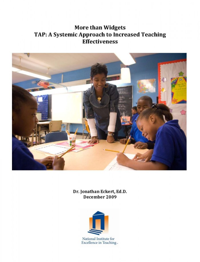 More Than Widgets: TAP: A Systemic Approach to Increased Teaching Effectiveness