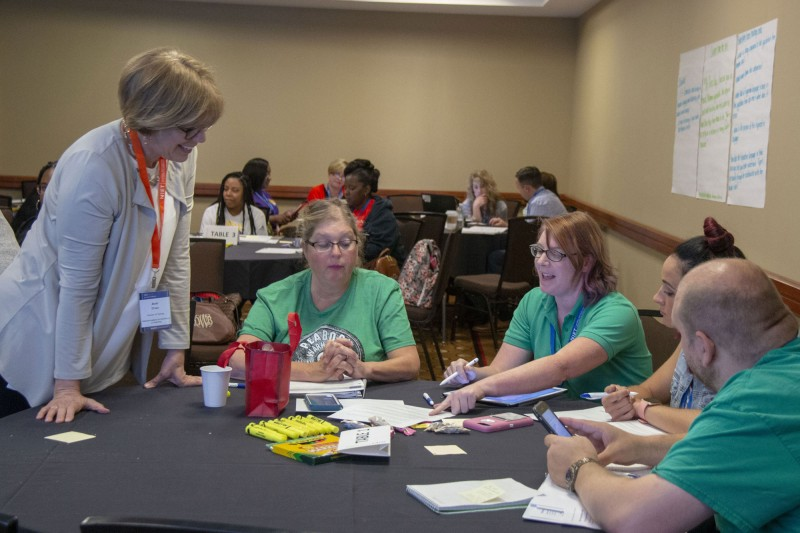 NIET Executive Director of Training Dr. Ann Shaw leads NIET Summer Institute training