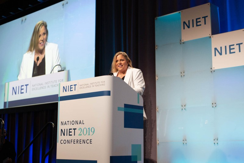 NIET Director of Learning Technology Stephanie Mosqueda Addresses the National NIET Conference