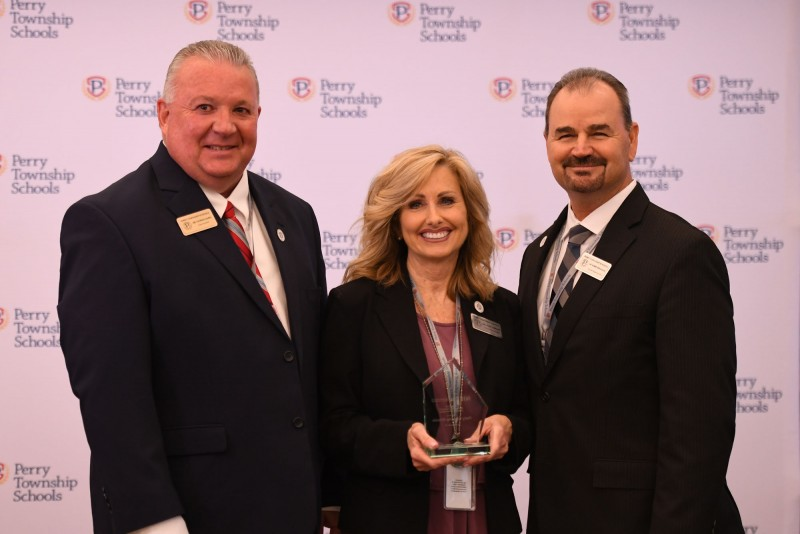 Perry Township Schools Leaders Accept NIET Award of Excellence for Educator Effectiveness