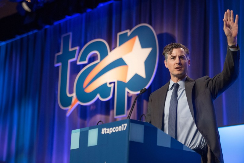 John White addresses TAP conference attendees