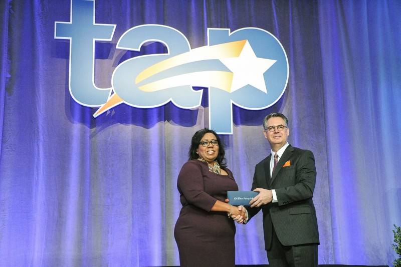 Gary Stark Presents Latatia Johnson with $50,000 TAP Founder's Award Prize
