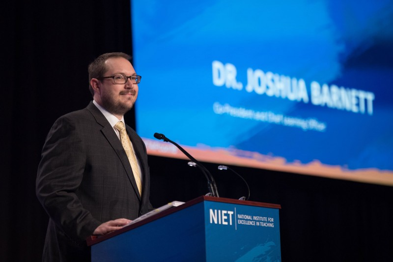 NIET Co-President and Chief Learning Officer Dr. Joshua Barnett discusses Teach Factor campaign