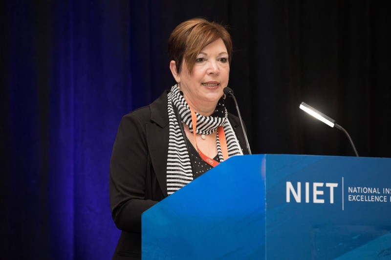 NIET Co-President and Chief Strategy Officer Dr. Patrice Pujol addresses 2018 TAP Conference