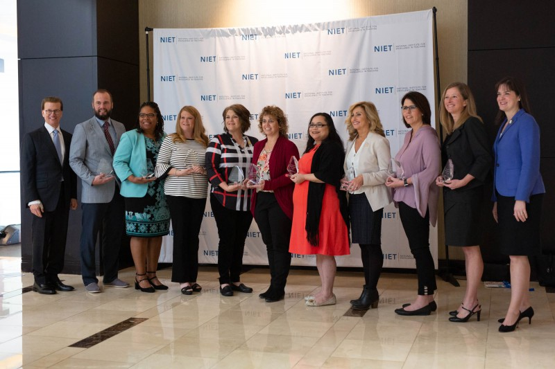 Members of NIET 2018-19 Educator Advisory Honored