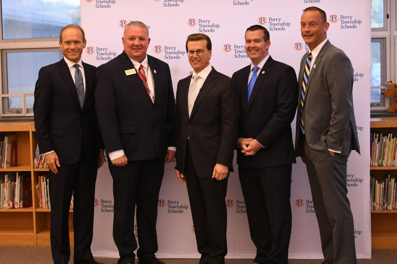 Indiana State and District Leaders Celebrate Perry Township Award