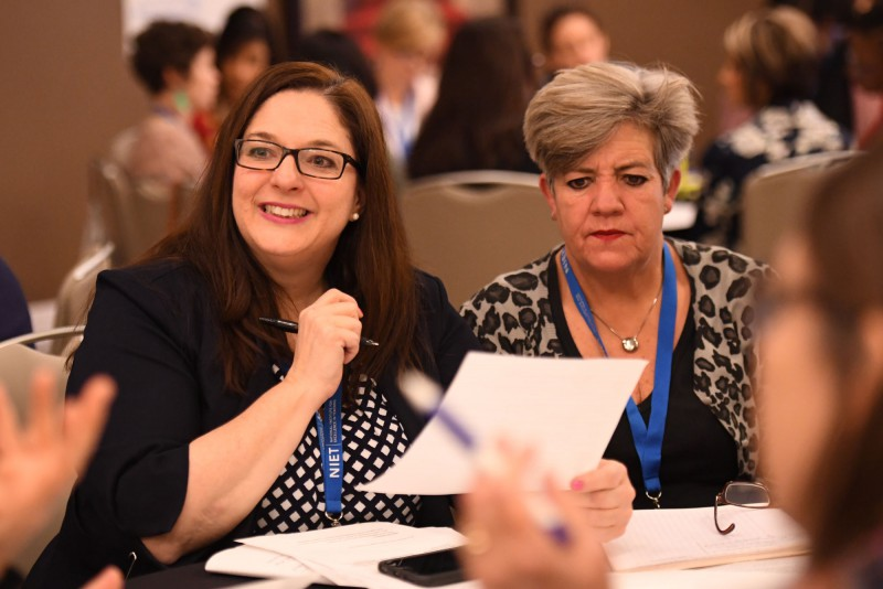 Educators Participate in a Conference Training