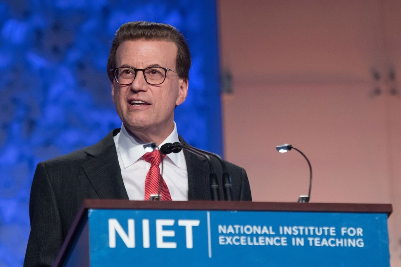 NIET Chairman and TAP Founder Lowell Milken delivers 2018 TAP Conference keynote presentation