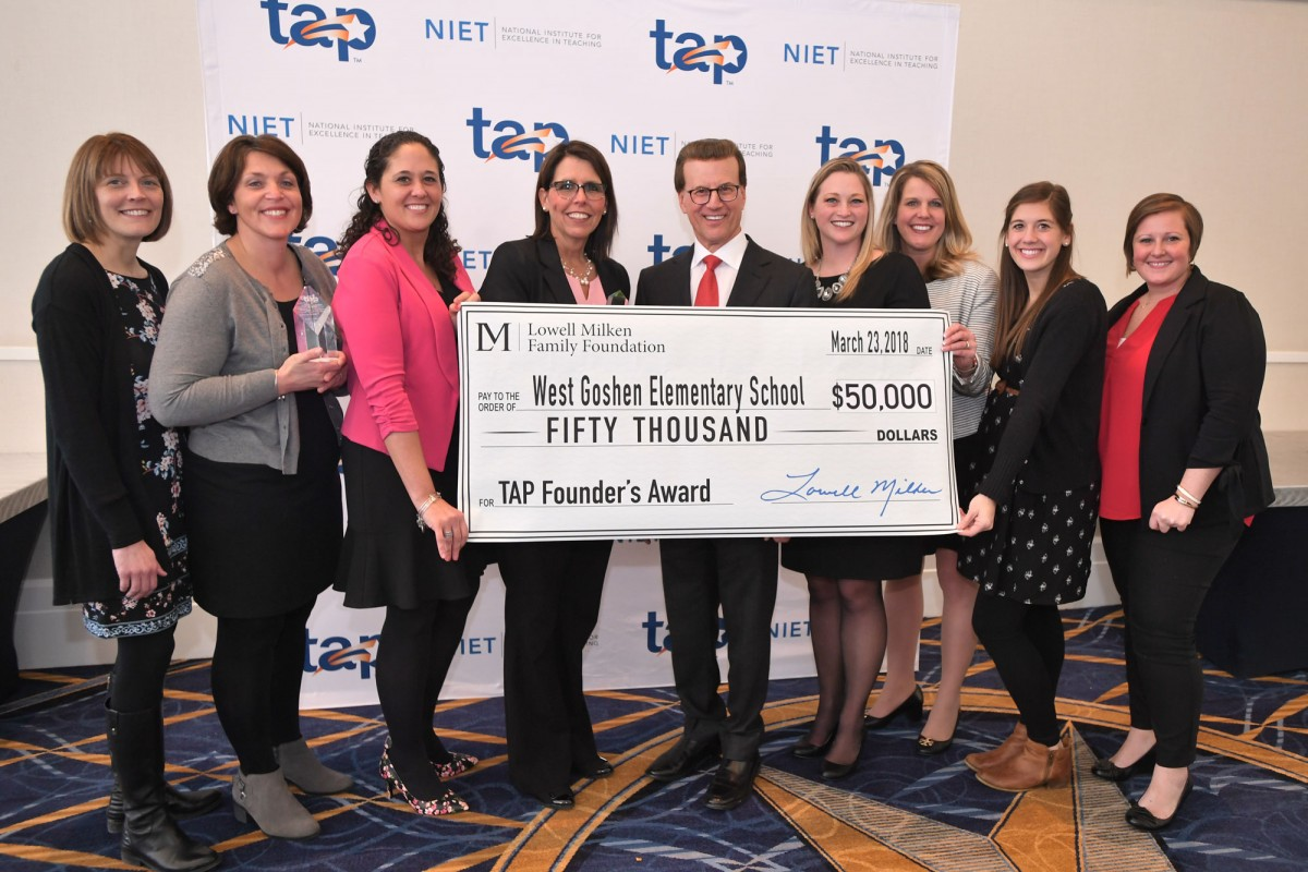 West Goshen Elementary School in Goshen, Indiana, Receives 2018 TAP Founder's Award and $50,000