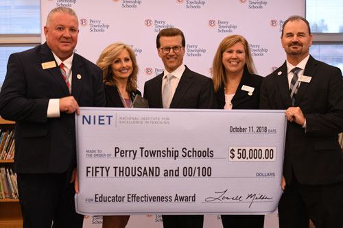 NIET Presents Perry Township Schools with Surprise $50,000 National Award of Excellence for Educator Effectiveness