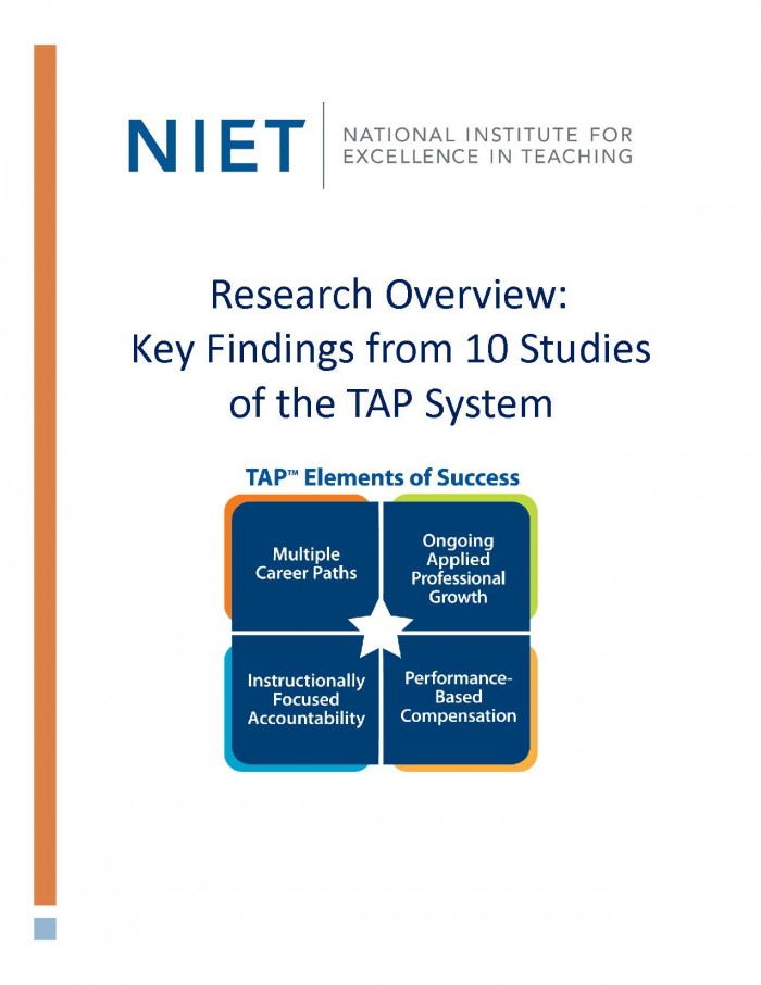 Research Overview: Key Findings from 10 Studies of the TAP System