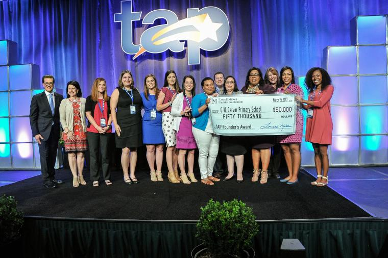 G.W. Carver Primary School in Ascension Public Schools, Louisiana, Receives 2017 TAP Founder's Award and $50,000
