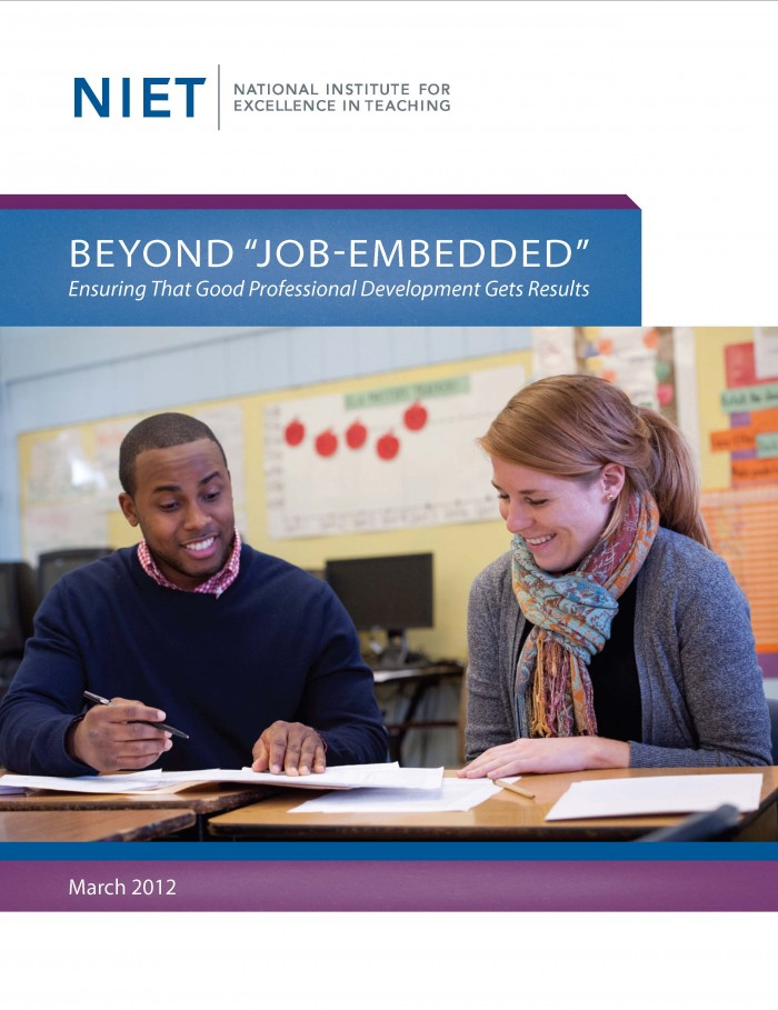 Beyond Job Embedded: Ensuring That Good Professional Development Gets Results